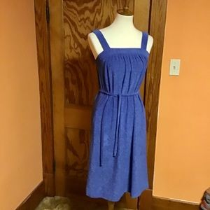 Vintage 70s blue terry cloth dress n cover up